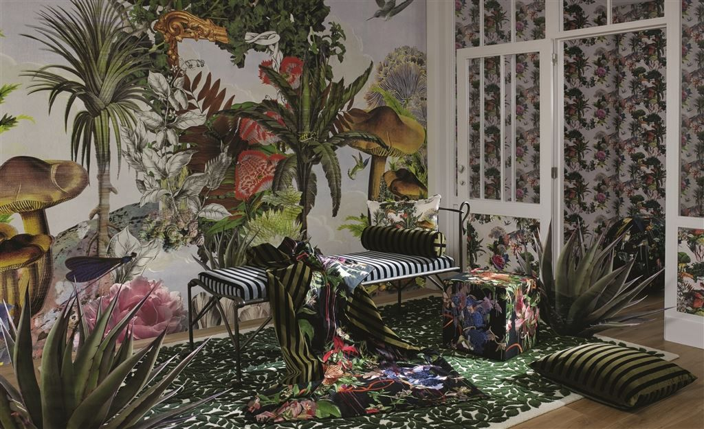 Oilcloth, Fabric And Designer Wallpaper