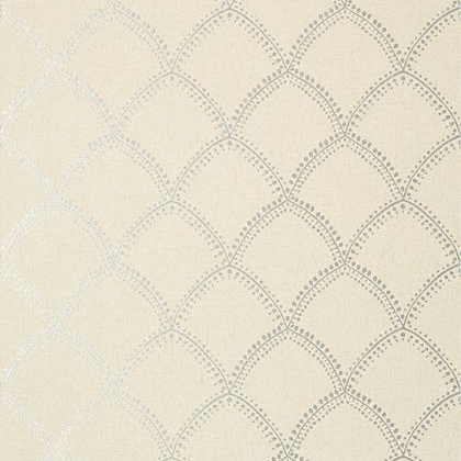Anna French Burmese Wallpaper in Metallic on Beige