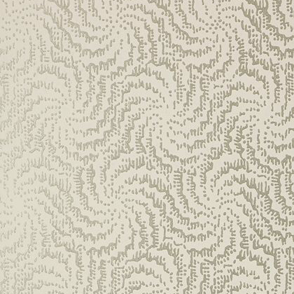 Anna French Cirrus Wallpaper in Metallic Pewter on Neutral