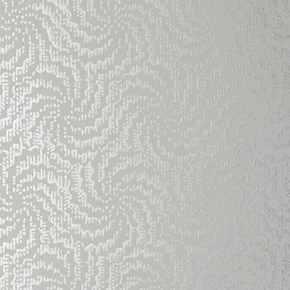 Anna French Cirrus Wallpaper in Metallic Silver on Grey