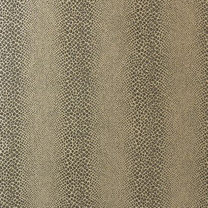 Anna French Mamba Wallpaper in Grey on Metallic Silver