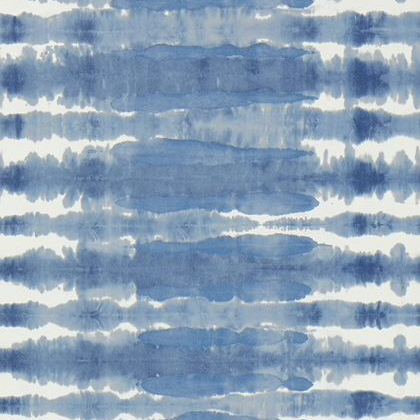 Anna French Margate Wallpaper in Blue on White