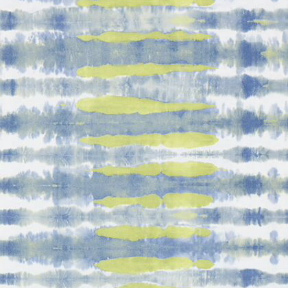 Anna French Margate Wallpaper in Citron and Navy