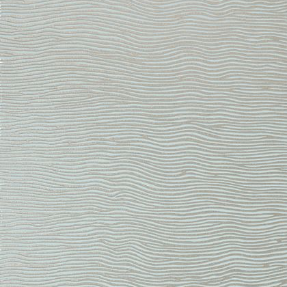 Anna French Onda Wallpaper in Metallic on Aqua