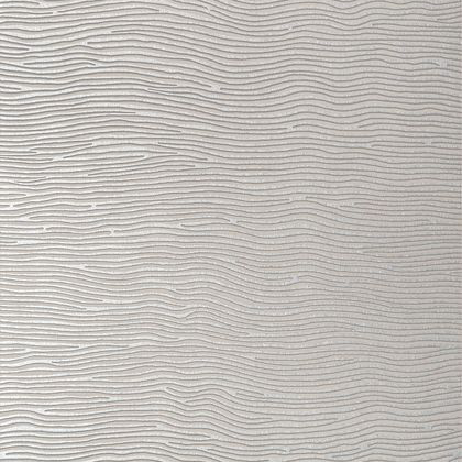 Anna French Onda Wallpaper in Taupe and Silver