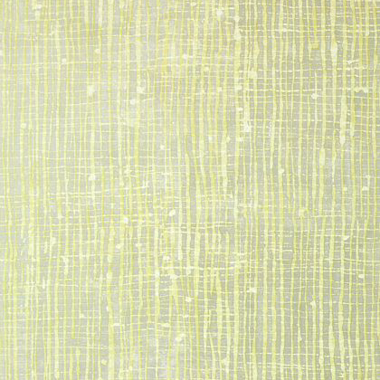 Anna French Violage Wallpaper in Citron and Metallic Silver