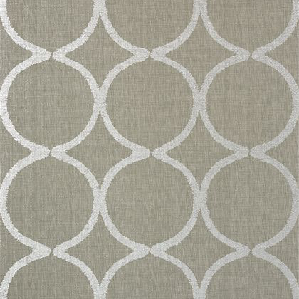 Anna French Watercourse Wallpaper in Metallic Silver on Taupe