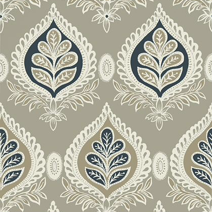 Thibaut Midland Wallpaper in Grey