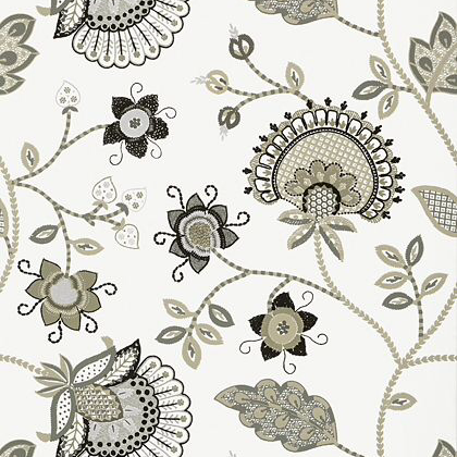Thibaut Portofino Wallpaper in Grey