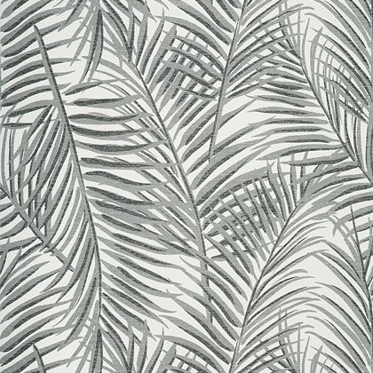 Thibaut West Palm Wallpaper In Black And White