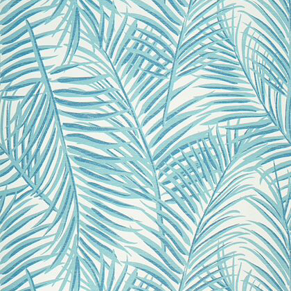 Thibaut West Palm Wallpaper in Turquoise