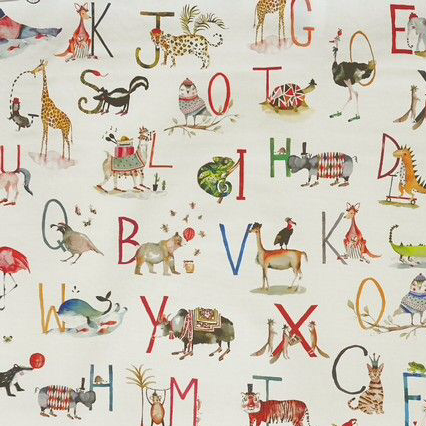 Animal Alphabet Oilcloth in Fudge