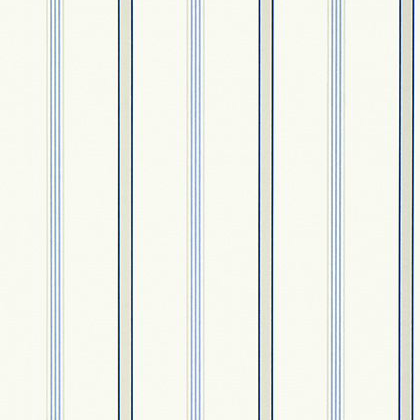 Anna French Dawson Stripe Wallpaper in Blue and White