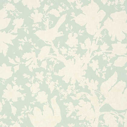Anna French Garden Silhouette Wallpaper in Aqua