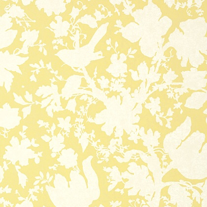 Anna French Garden Silhouette Wallpaper in Citron