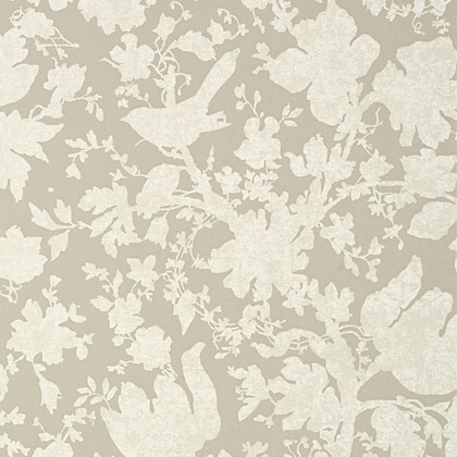 Anna French Garden Silhouette Wallpaper in Neutral