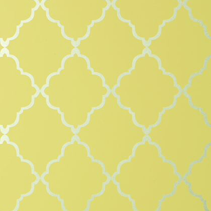 Anna French Klein Trellis Wallpaper in Citron