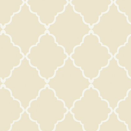 Anna French Klein Trellis Wallpaper in Neutral