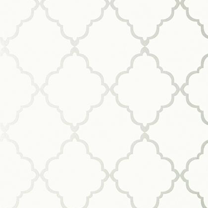 Anna French Klein Trellis Wallpaper in Off White