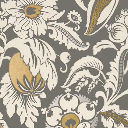 Anna French Mallorca Wallpaper in Charcoal