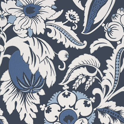 Anna French Mallorca Wallpaper in Navy