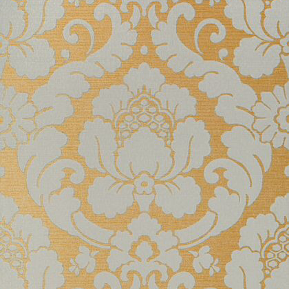 Anna French Marlow Wallpaper in Aqua on Metallic Gold