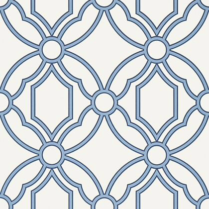 Anna French Roscoe Wallpaper in Blue