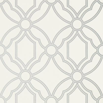 Anna French Roscoe Wallpaper in Grey