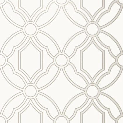 Anna French Roscoe Wallpaper in Pearl