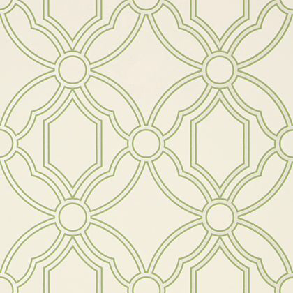 Anna French Roscoe Wallpaper in Soft Green