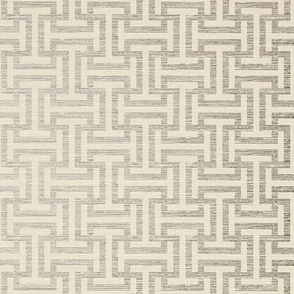 Anna French Rymann Wallpaper in Pearl on Linen
