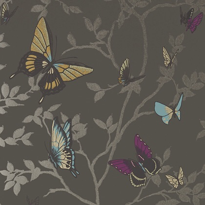 Anna French Seraphina Wallpaper in Charcoal
