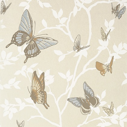 Anna French Seraphina Wallpaper in Pearl