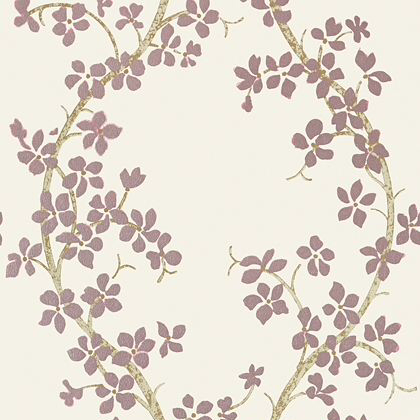 Anna French St Albans Grove Wallpaper in Pink on Ivory