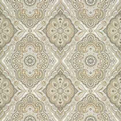 Anna French Sterling Wallpaper in Beige
