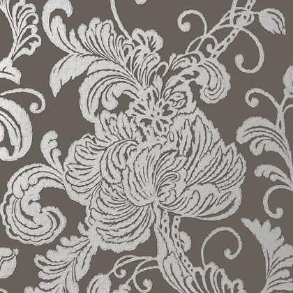 Anna French Verey Wallpaper in Charcoal