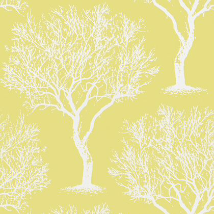 Anna French Winfell Forest Wallpaper in Citron