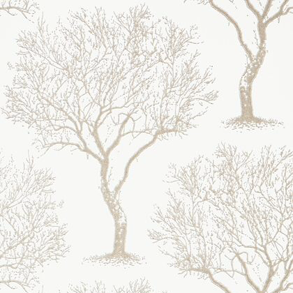 Anna French Winfell Forest Wallpaper in Pearl