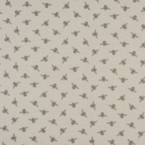 Bees Oilcloth in Linen