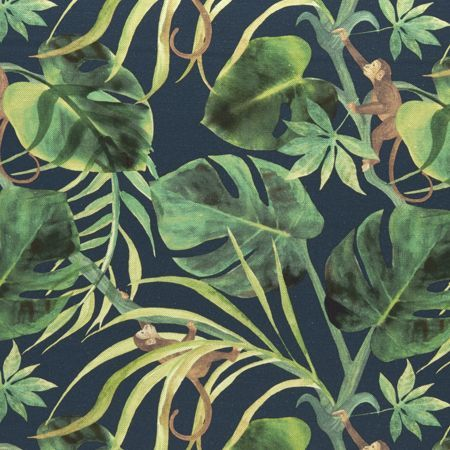Clarke and Clarke Monkey Business Fabric