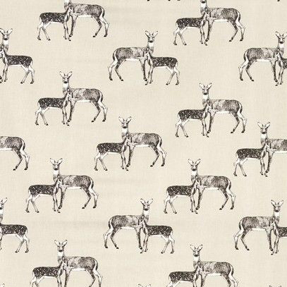 Deer Oilcloth in Canvas