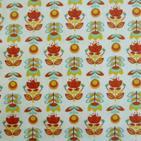 Holly Extra Wide Acrylic Oilcloth in Orange