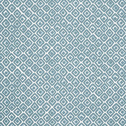Indian Diamond Wallpaper in Spa Blue