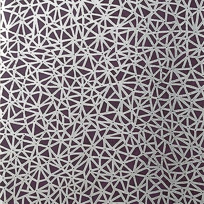 Thibaut Aedan Wallpaper in Plum