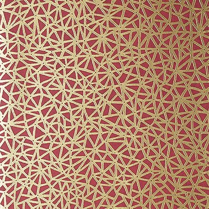 Thibaut Aedan Wallpaper in Raspberry