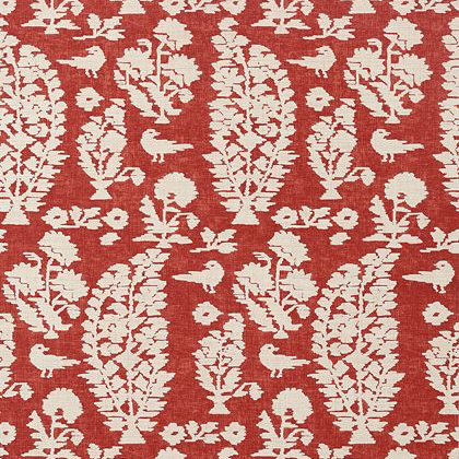 Thibaut Allaire Wallpaper in Red
