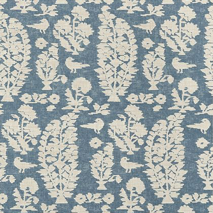 Thibaut Allaire Wallpaper in Slate Blue