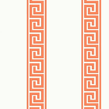 Thibaut Andreas Stripe Wallpaper in Coral