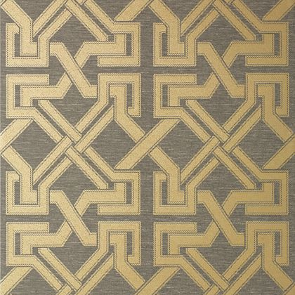 Thibaut Benedetto Wallpaper in Grey and Gold