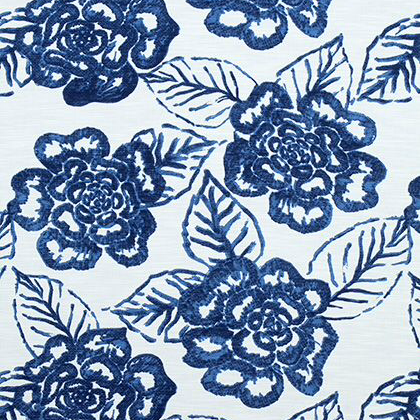 Thibaut Bonita Springs Fabric in Navy